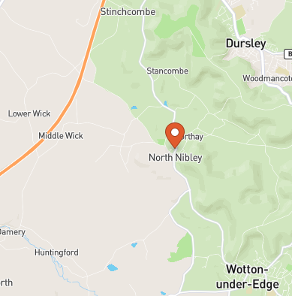 Map of North Nibley